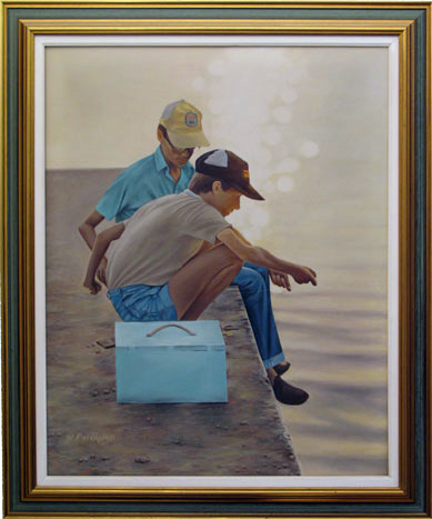 Fishing Boys 75cm*60cm (without the frame) Oil on camvas