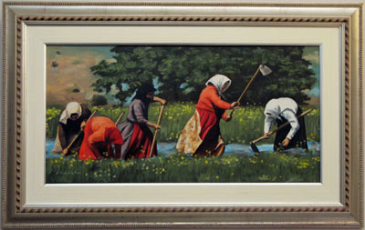 Women in the farm 70cm*35cm (without the frame) Oil on camvas